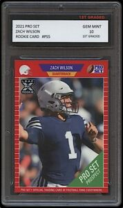 ZACH WILSON 2021 PRO SET #PS5 LEAF 1ST GRADED 10 ROOKIE CARD RC NCAA BYU COUGARS