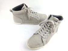 ALDO Men's Sneakers Perforated Leather Tan/Grey High Tops Shoes $110 Sz 10