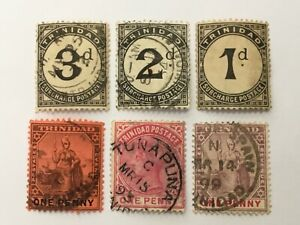 old stamps  TRINIDAD   x  6