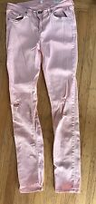 RAG & BONE Pink Skinny Jeans DISTRESSED KNEES 29 USA
