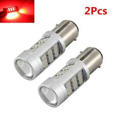 2X1157 LED Car Red Flash Strobe Blinking Alert Safety Brake Tail Stop Light Bulb