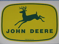 "JOHN DEERE LOGO 5.75"" 1950's PRINTED IN USA DECAL STICKER FARM TRACTOR GATOR"