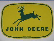 "JOHN DEERE 5.75"" 1950's PRINTED IN USA DECAL STICKER 4 LEGGED FARM TRACTOR GATOR"