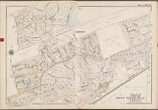 1910 G.W. Bromley New Rochelle Westchester N.Y. Beechmont Oval Copy Atlas Map