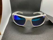"NEW NWT Men's Reebok ""Classic 2"" Golf Sunglasses  White Frame / Blue Mirror Lens"
