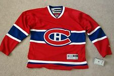 NWT NEW AUTHENTIC NO NAME BLANK CANADIENS REEBOK PREMIER MENS JERSEY SIZE SMALL