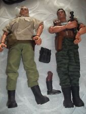 Two vintage GI JOE Characters-With accessories~and GI Joe Storage Box~EC