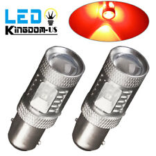 2x RED 1157 30W High Power LED Turn Signal Backup Reverse Light Bulbs 12V
