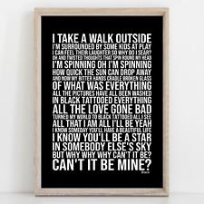 More details for pearl jam black song lyrics poster print wall art