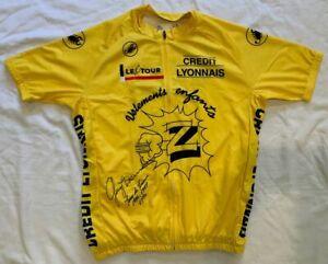 Greg LeMond signed 1990 Tour de France yellow cycling jersey Z-Tomasso
