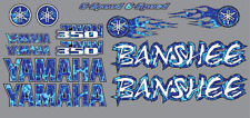 Banshee Decals BLUE Plasma Flame Style Full Color Sticker Graphics 14pc ATV QUAD