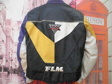 CHAQUETA PIEL MOTORISTA FLM REFLECTANTE PROTEC EXTRAIBLE LEATHER JACKET TALLA 56