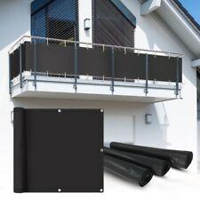 PVC Balkon Sichtschutz Sichtschutzfolie anthratzit 6x0,75m Balkonabdeckung