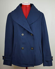 NWT Levi's Navy Blue Wool Blend Shawl Collar Double Breasted Coat Jacket L $158