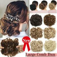 Real Chic Scrunchie Messy Bun Hair Peice Comb Clip Hair Extension Ponytail Updo