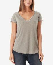 Willam Rast Women's Cooper Henley T Shirt Dusty Olive M
