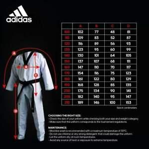 ADIDAS - Champ III Taekwondo Uniform - WT Approved - Size 2 / 160 CM ATA