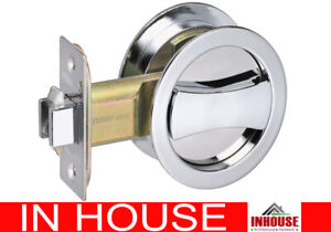 Cavity Sliding door Lock flush pull handle Privacy function Chrome finish rd