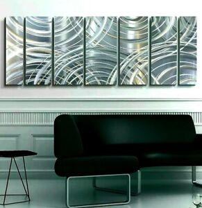 Metal Wall Art ULTRA MODERN Silver Wall Sculpture Modern Home Decor Jon Allen