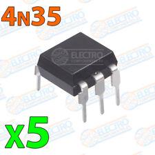 5x 4N35 Optoacoplador 30V-60mA Electronica Arduino DIP 6 NPN fototransistor
