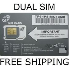 2 - Net10 Dual Sim Cards Offering Unlimited Service On At&T Network *