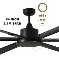 "MARTEC Albatross Black 84"" Large DC Ceiling Fan With Remote 210cm Mafmmr"