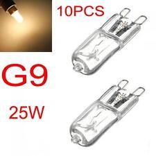 10PCS G9 25W 260 LM Warm White Halogen Bulb Light Lamp 230V Capsule Clear Bulbs