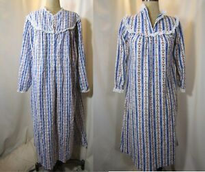 Vintage LANZ OF SALZBURG Mother and Daughter Pajama Gown Size large &  8 yrs