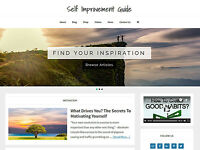 * SELF IMPROVEMENT * blog store premade website business for sale AUTO CONTENT!