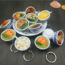 Chinese Noodles Key Chain Ring Simulation Food Keyring Pendant Purse Keychain