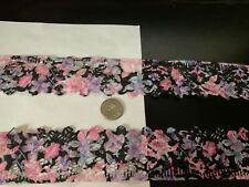 unique 2 in wide floral print lace with excellent detail
