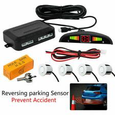 Inalámbrico para 4 Sensores de Aparcamiento Radar Reverso Audio Sonido De Alarma