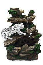 New Resin/Fibreglass White Tiger Table water Fountain with LED Light