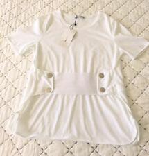 Ladies Zara Corset Top In White Size M BNWT