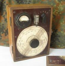 WWII 1930s ANTIQUE GERMAN RADIO FREQUENCY ABSORPTION WAVEMETER VERY RARE