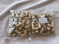 "50 -  3/4""  PEX Brass Crimp On 90 Elbow Fittings  FAST FREE SHIPPING LEAD-FREE"