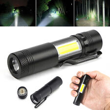 12000 Lumen Mini Flashlight XPE Q5+COB LED Torch Lamp Penlight AA/14500 4 Modes