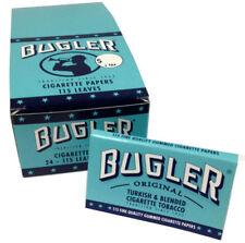 24 Pack Bugler Single Wide 70 mm Cigarette Rolling Papers 2760 Leaves - 5023-24