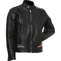 NWT Men Black Leather Bike Tour Motorcycle Jacket Live To Ride S M L XL 2X 3X 4X