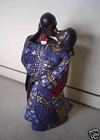 Unique Black Woman and Man Kissing Figurine LOOK