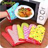 Cotton Home Kitchen BBQ Heat Resistant Insulated Baking Oven Mitt Gloves