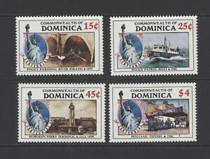 4 railway stamps from Dominica (SG 988-991) dated 1986 UMM