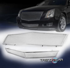 2008-2013 CADILLAC CTS FRONT MAIN UPPER+BUMPER STAINLESS STEEL MESH GRILLE GRILL