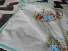 Baby Cot Blanket Beatrix Potter - Peter Rabbit Minkee Fleece Back  100cm x 120cm