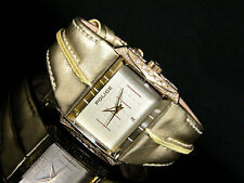 POLICE WOMENS WATCH MATRIX PL11190JSG/06 SWAROVSKI STEEL LEATHER 2 YEAR WARRANTY