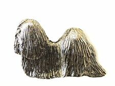 Lhasa Apso Brooch, Silver Plated