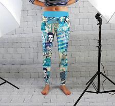 Pantalons et leggings de fitness bleus pour femme