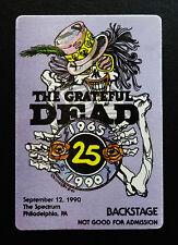 Grateful Dead Backstage Pass 25th 1965 - 1990 Spectrum Philadelphia PA 9/12/1990