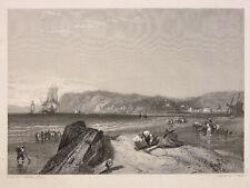 Le Havre 1850 Normandie Tirage avant la lettre D'après Stanfield par J. Cousen