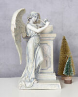 Engelfigur Grabfigur Grabdeko Grabschmuck Grabengel Antik Trauerengel Grabstein